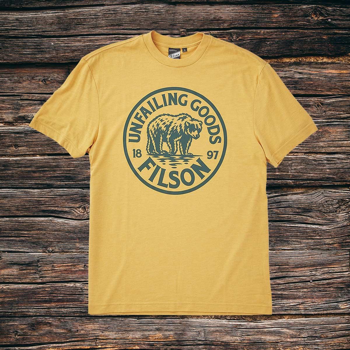 Filson Buckshot T-Shirt Rye, high performance T-shirt mit Sonnenschutz UPF 50+