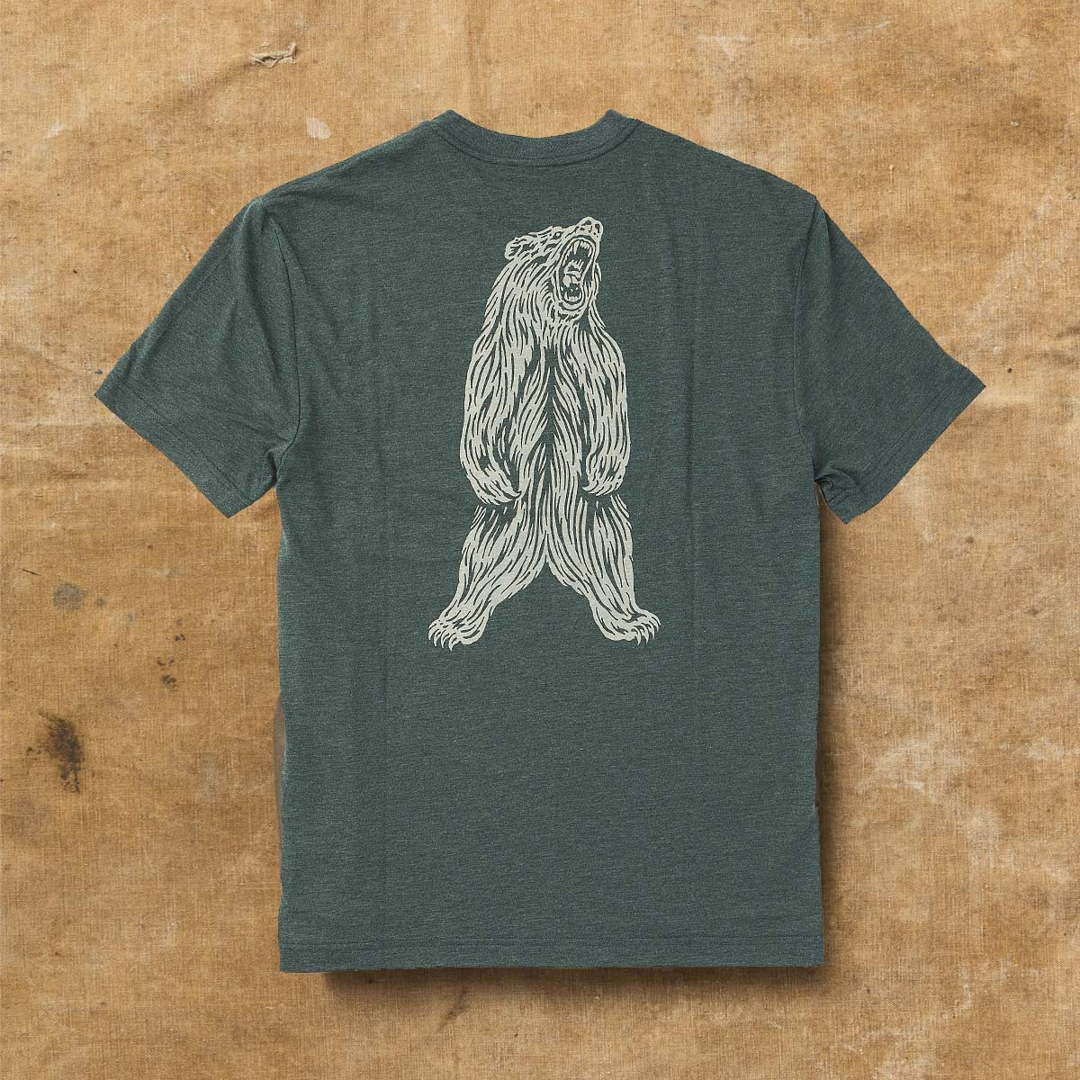 Filson Buckshot T-Shirt Forest Green Heather,, high performance T-shirt mit Sonnenschutz UPF 50+