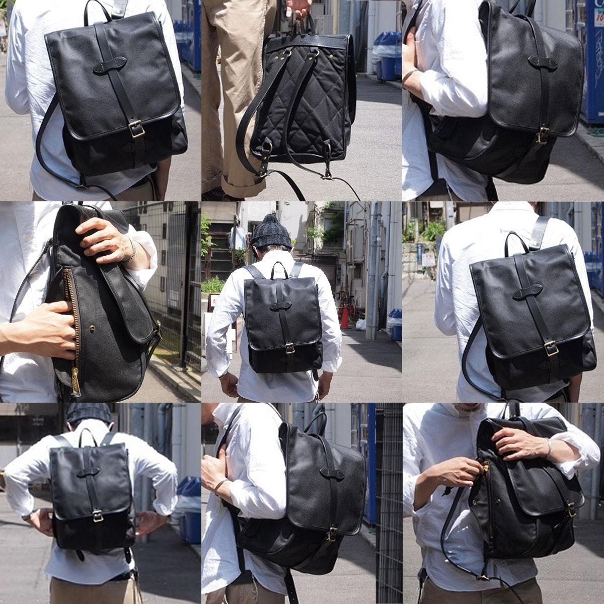 Filson Tin Cloth Backpack Black, der ultimative Begleiter für jeden Ihrer Ausflüge