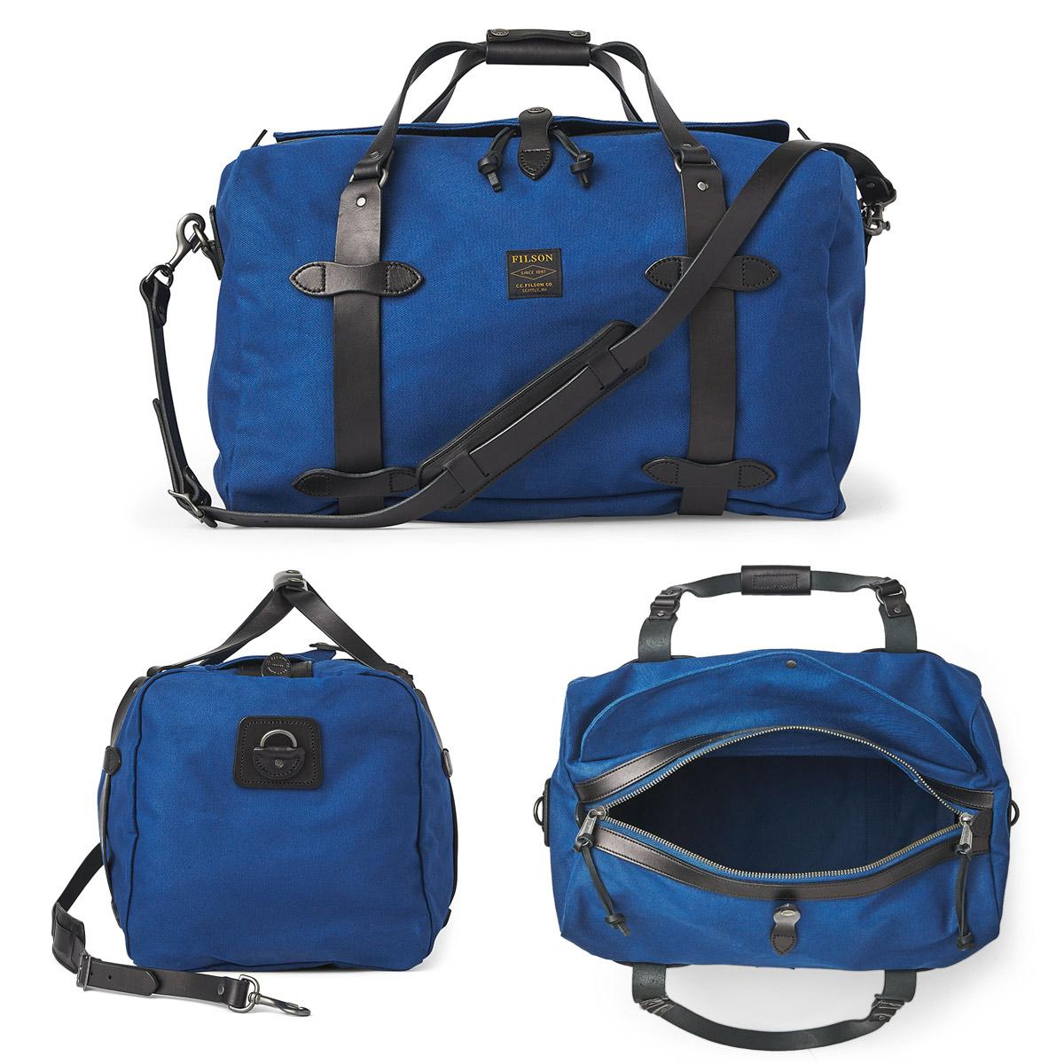 Filson Duffle Medium Flag Blue, perfekt für einen Wochenendausflug oder eine kleine Geschäftsreise