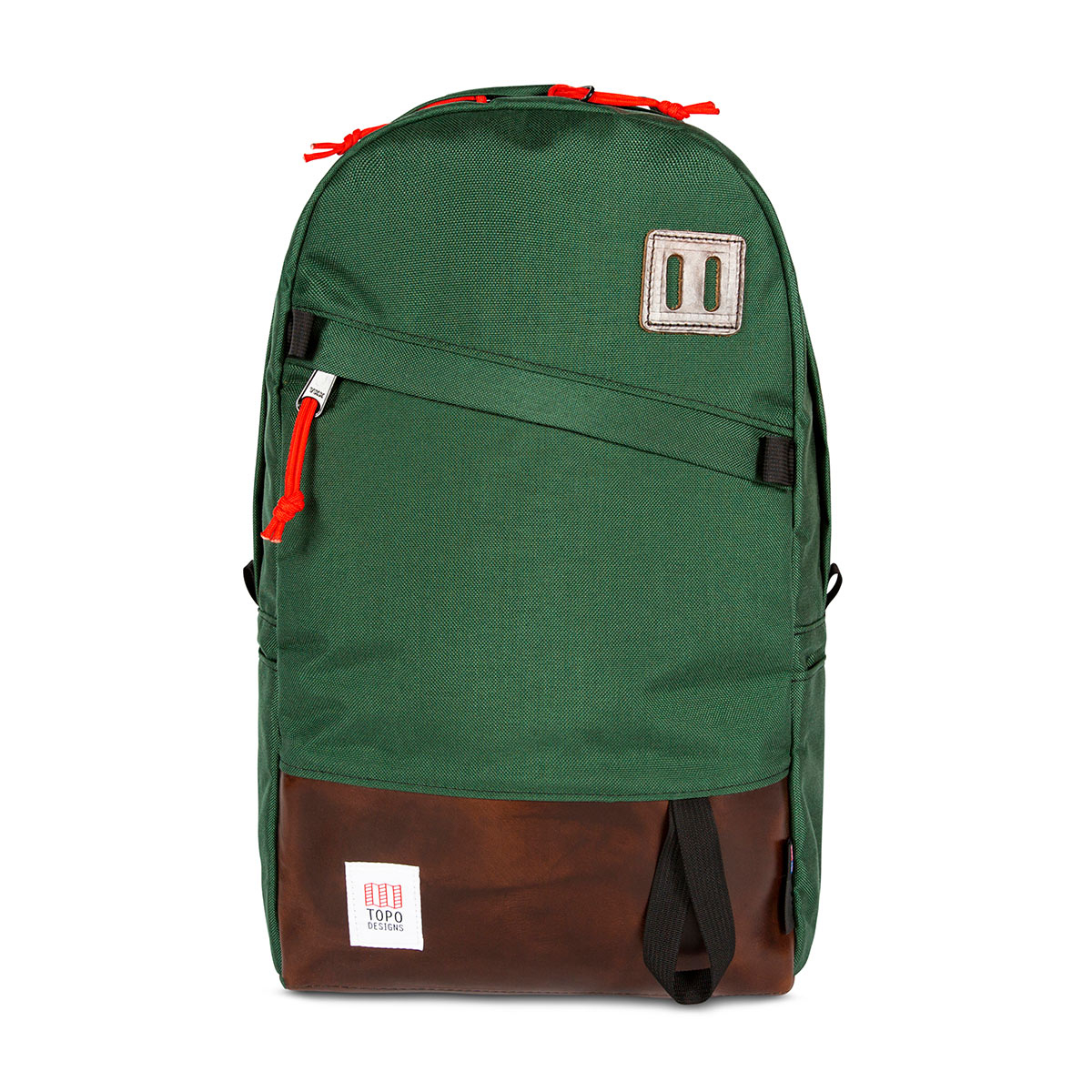 Topo Designs Daypack Forest/Brown Leather, idealer Reisebegleiter, Arbeitskollege oder Packesel