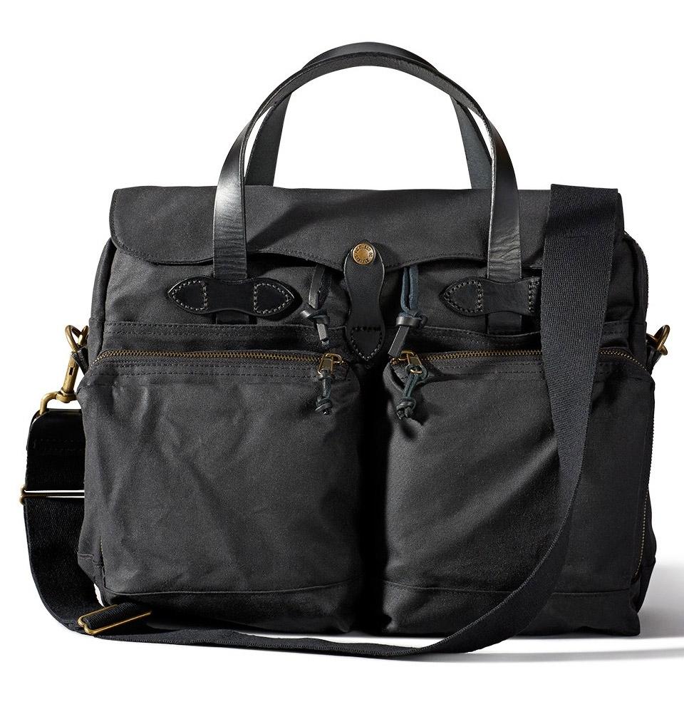 Filson 24-Hour Tin Cloth Briefcase 11070140-Black