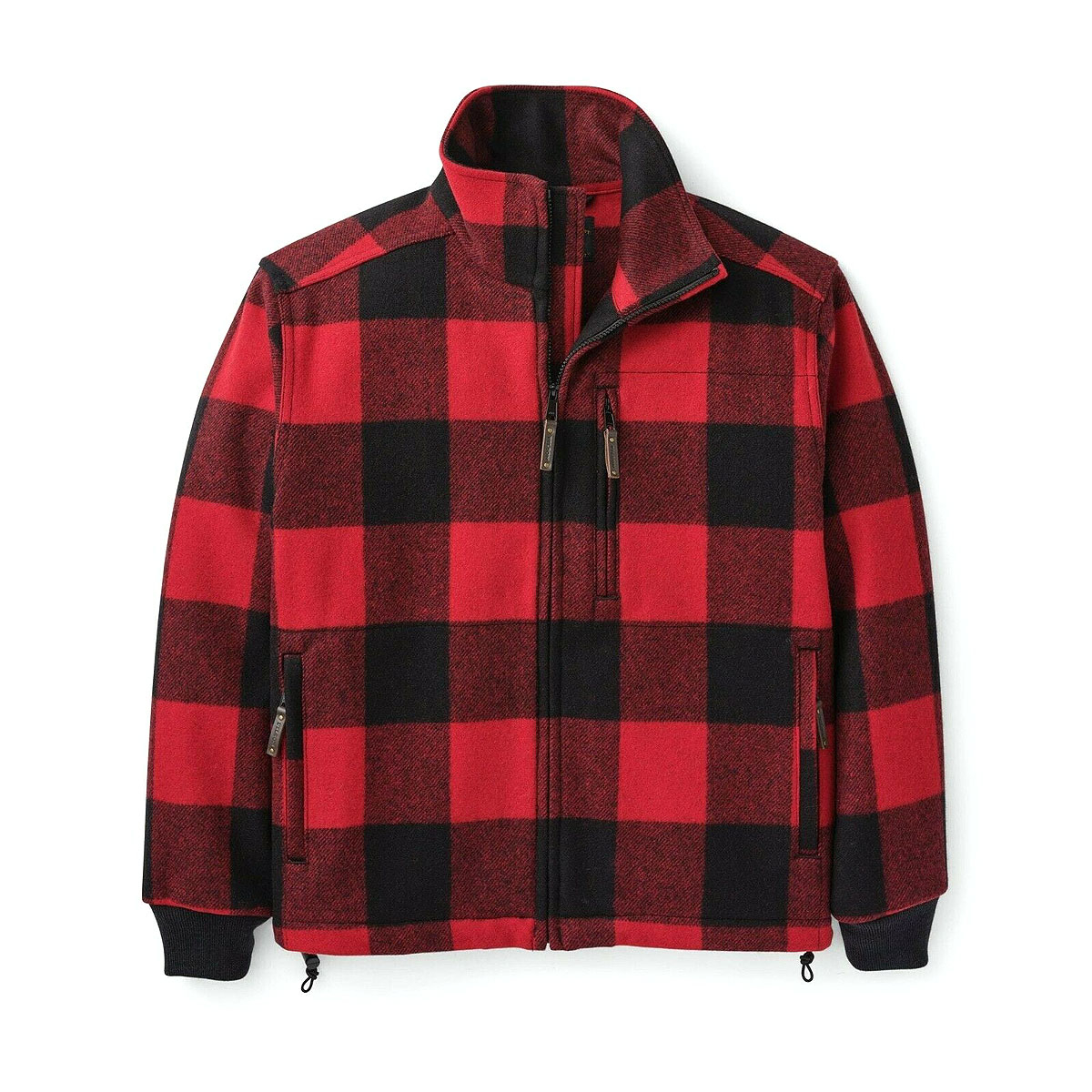 Filson Mackinaw Wool Field Jacket Red Black
