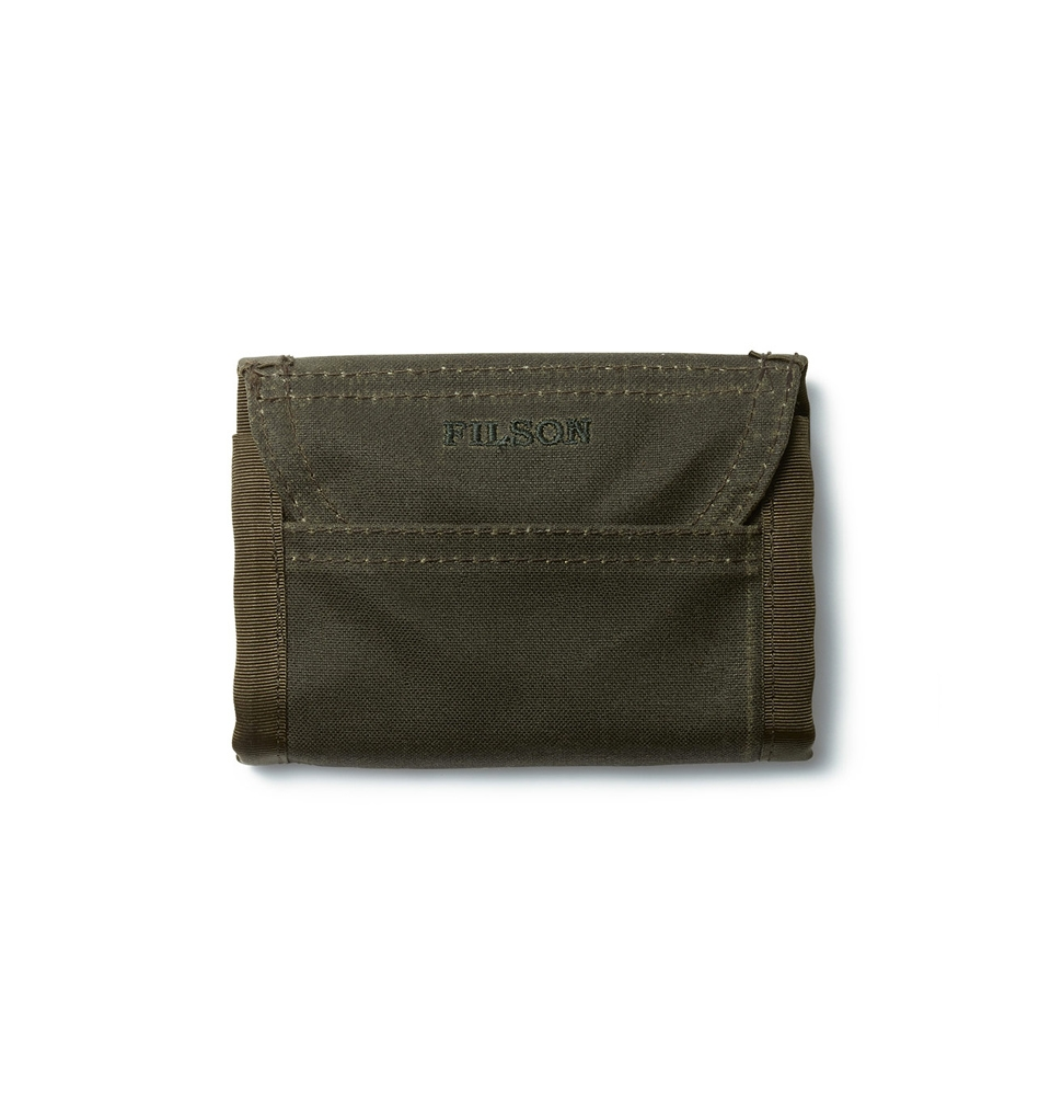 Filson Oil Finish Tri-Fold Wallet 11069150-Otter Green