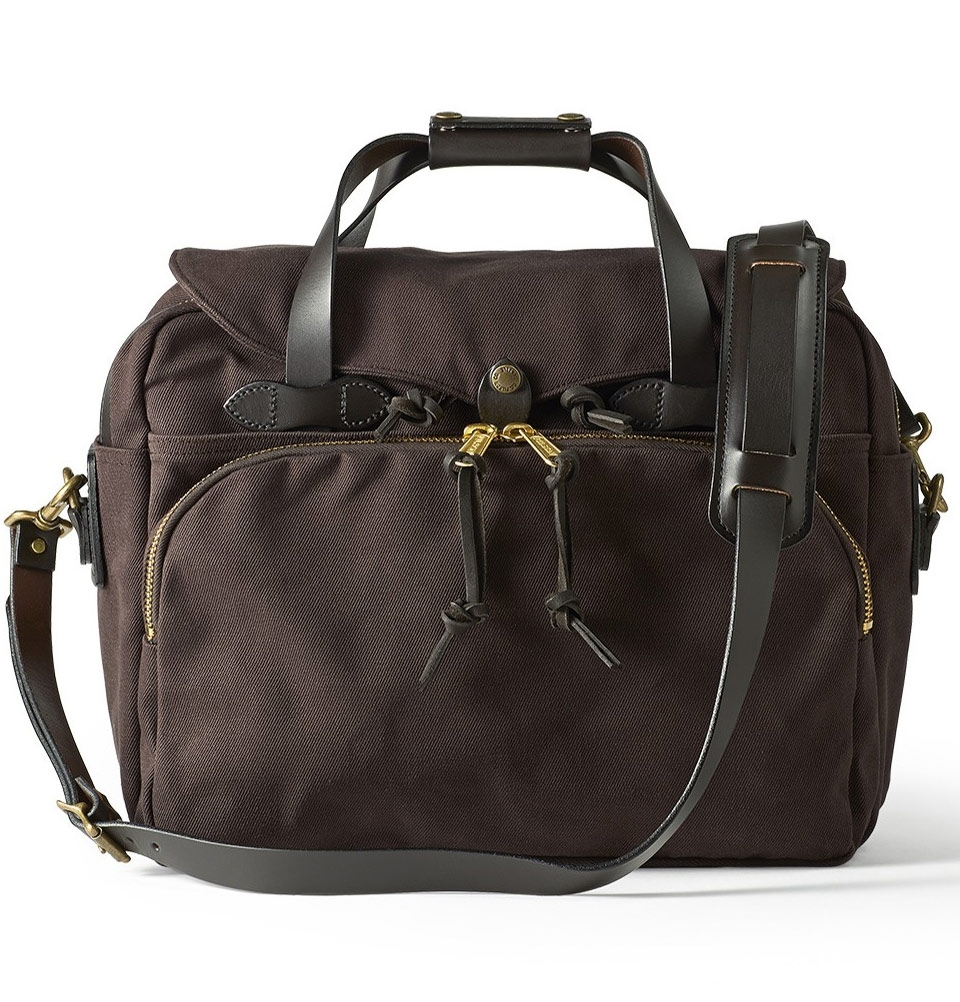 Filson Rugged Twill Padded Computer Bag 11070258-Brown