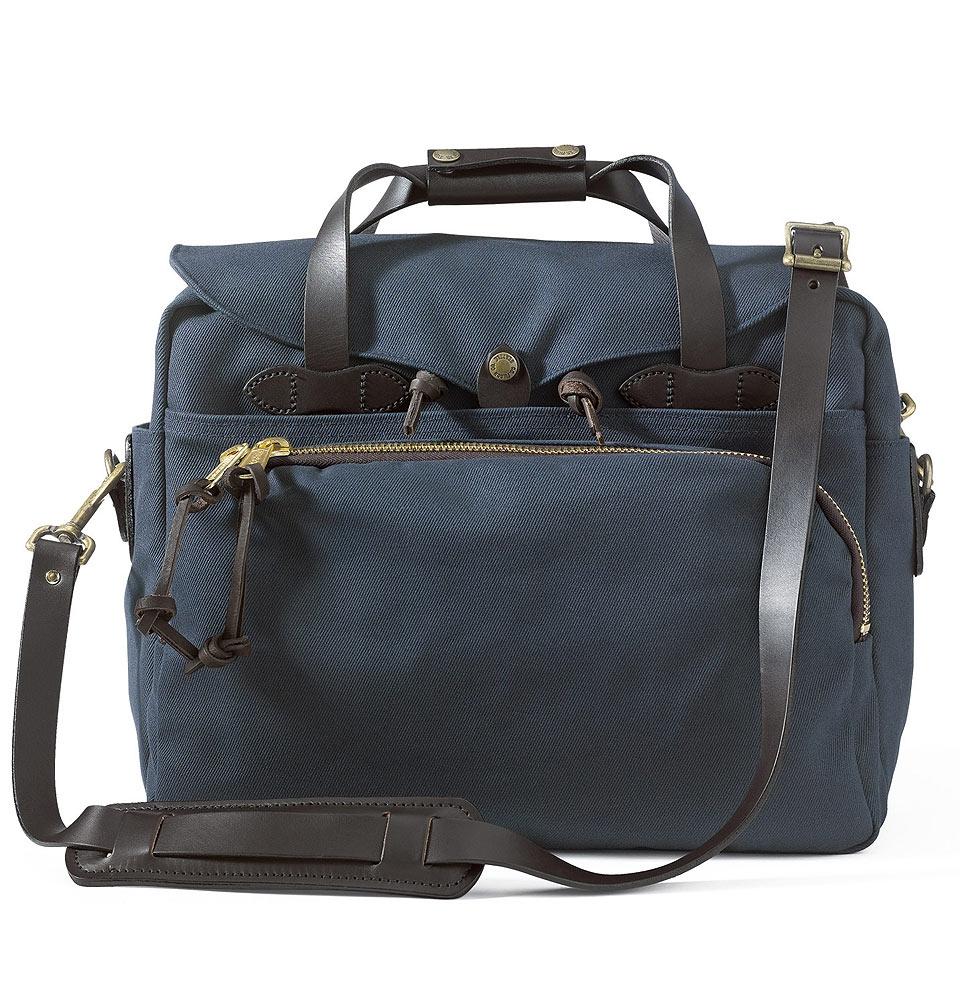 Filson Rugged Twill Padded Computer Bag 11070258-Navy