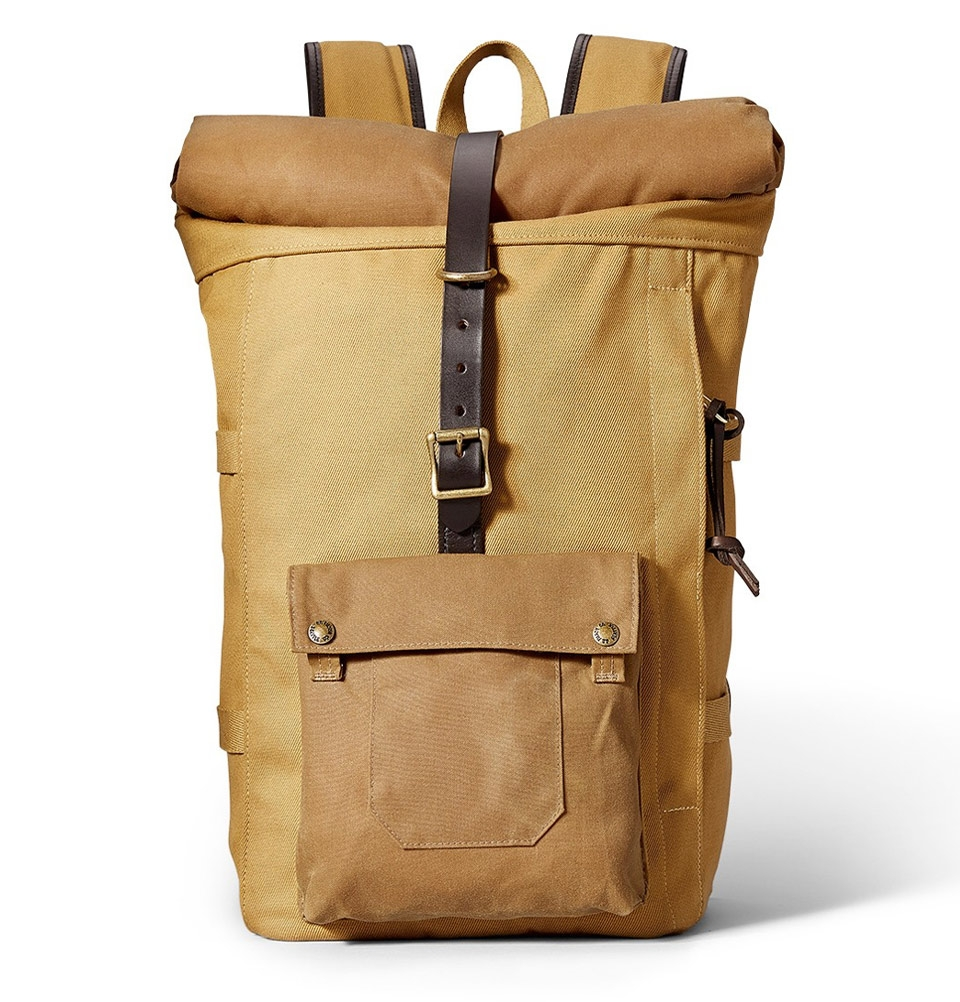 filson roll top backpack tan ein ger umiger fast unzerst rbarer rucksack mit bridle leather. Black Bedroom Furniture Sets. Home Design Ideas