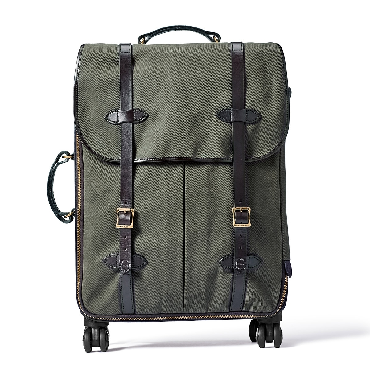 Filson Rugged Twill Rolling 4-Wheel Check-In Bag 20069584-Otter Green