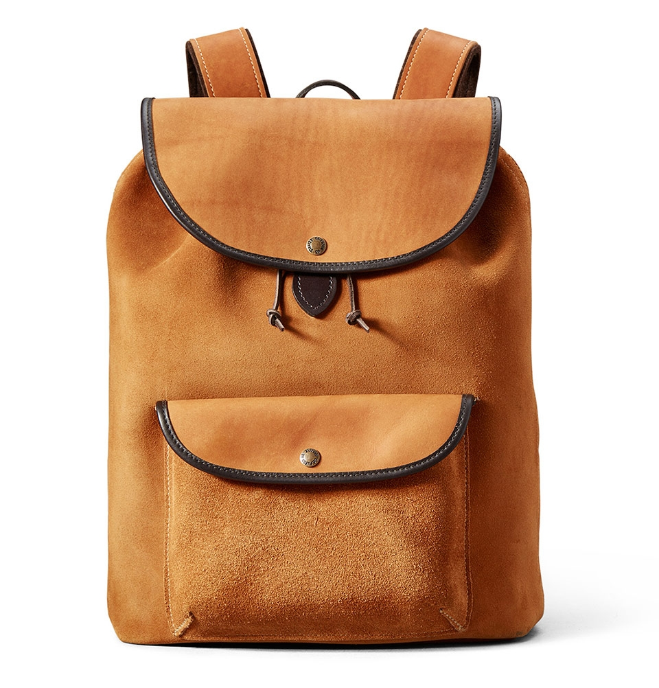 Filson Rugged Suede Backpack 11070435 Saddle Brown