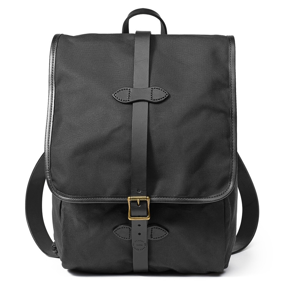 filson tin cloth backpack black klassische backpack elegant und hochwertig. Black Bedroom Furniture Sets. Home Design Ideas