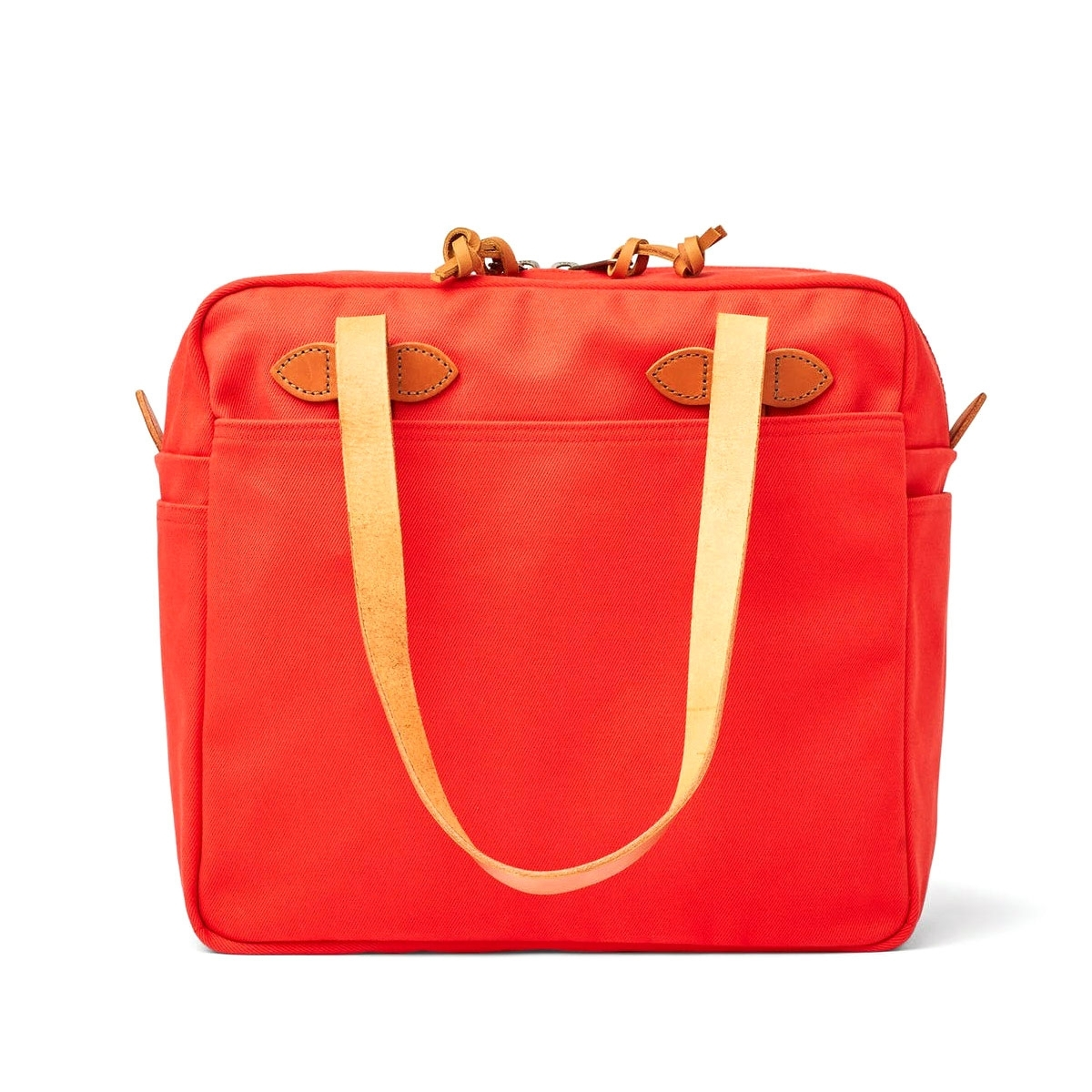 Filson Rugged Twill Tote Bag With Zipper 11070261-Mackinaw Red