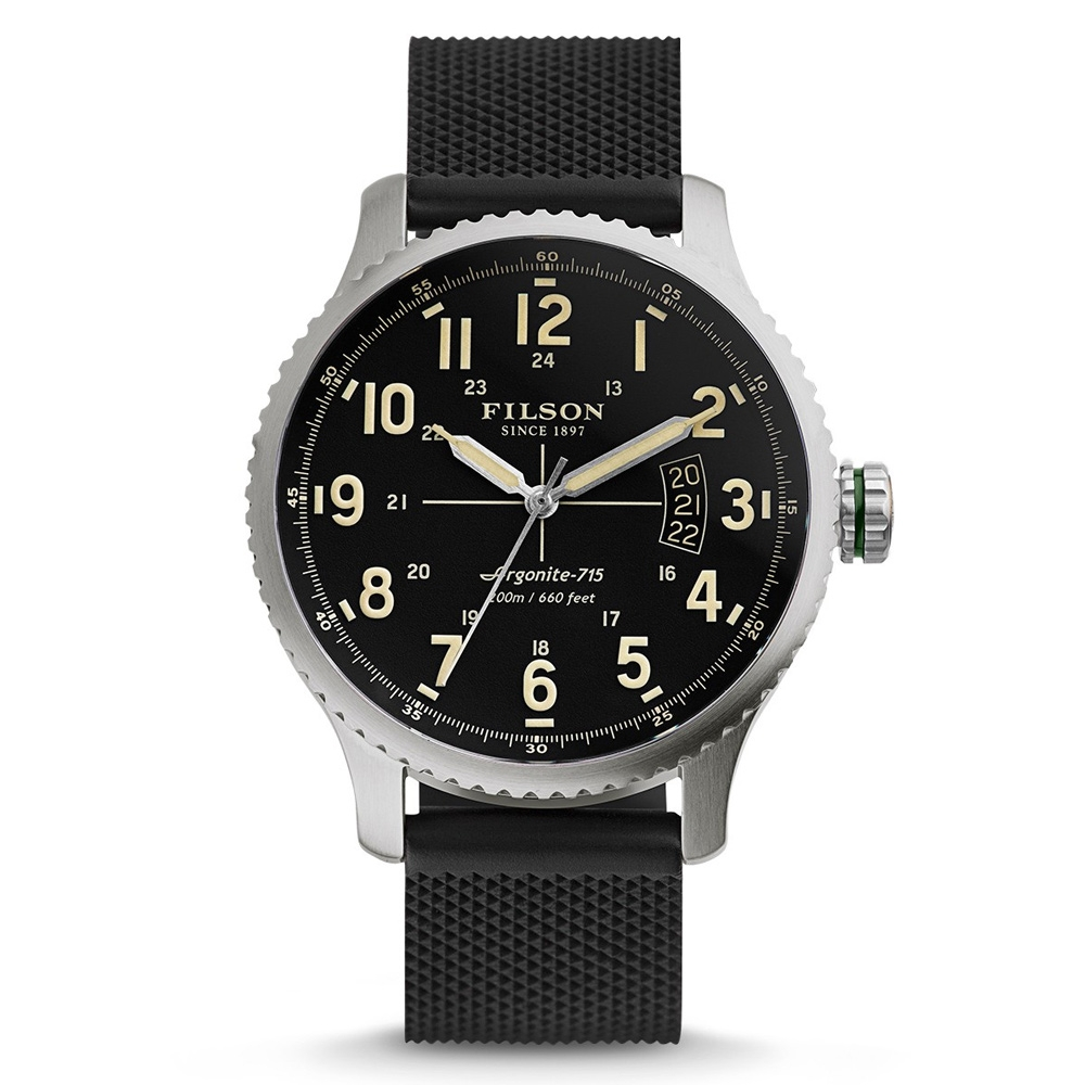 Filson Mackinaw Field Watch 10000300 Black Dail - Rubber Strap
