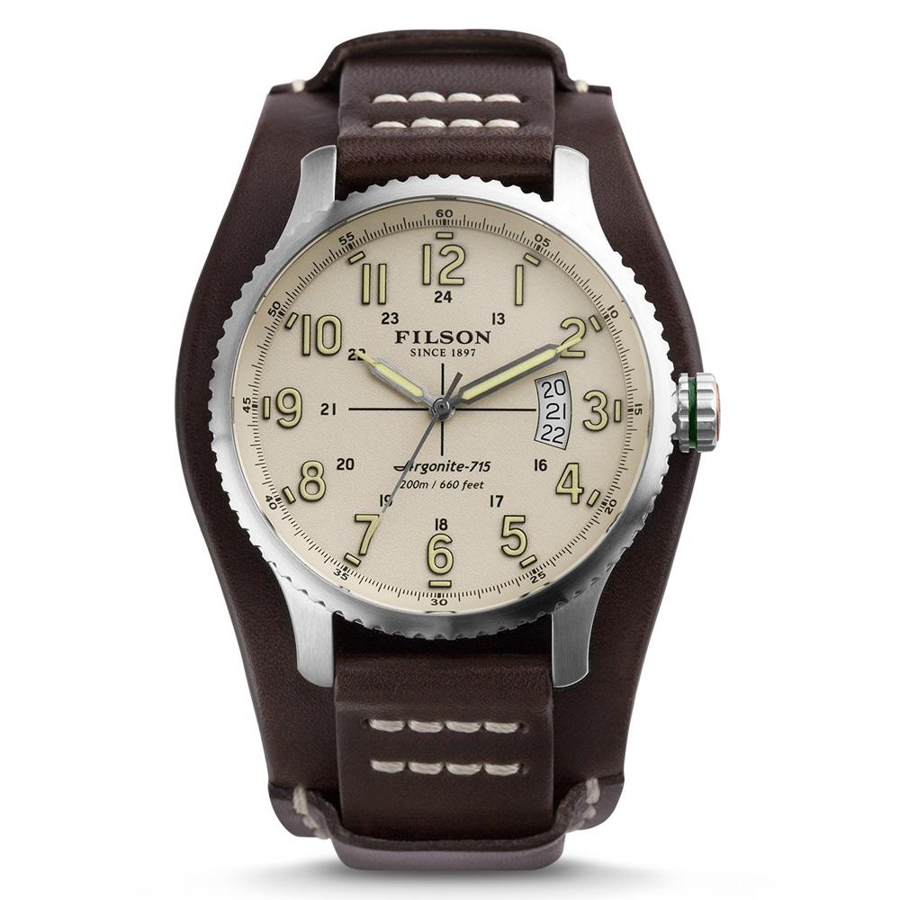 Filson Mackinaw Field Watch 10000305 Cream Dail - Bridle Leather Strap