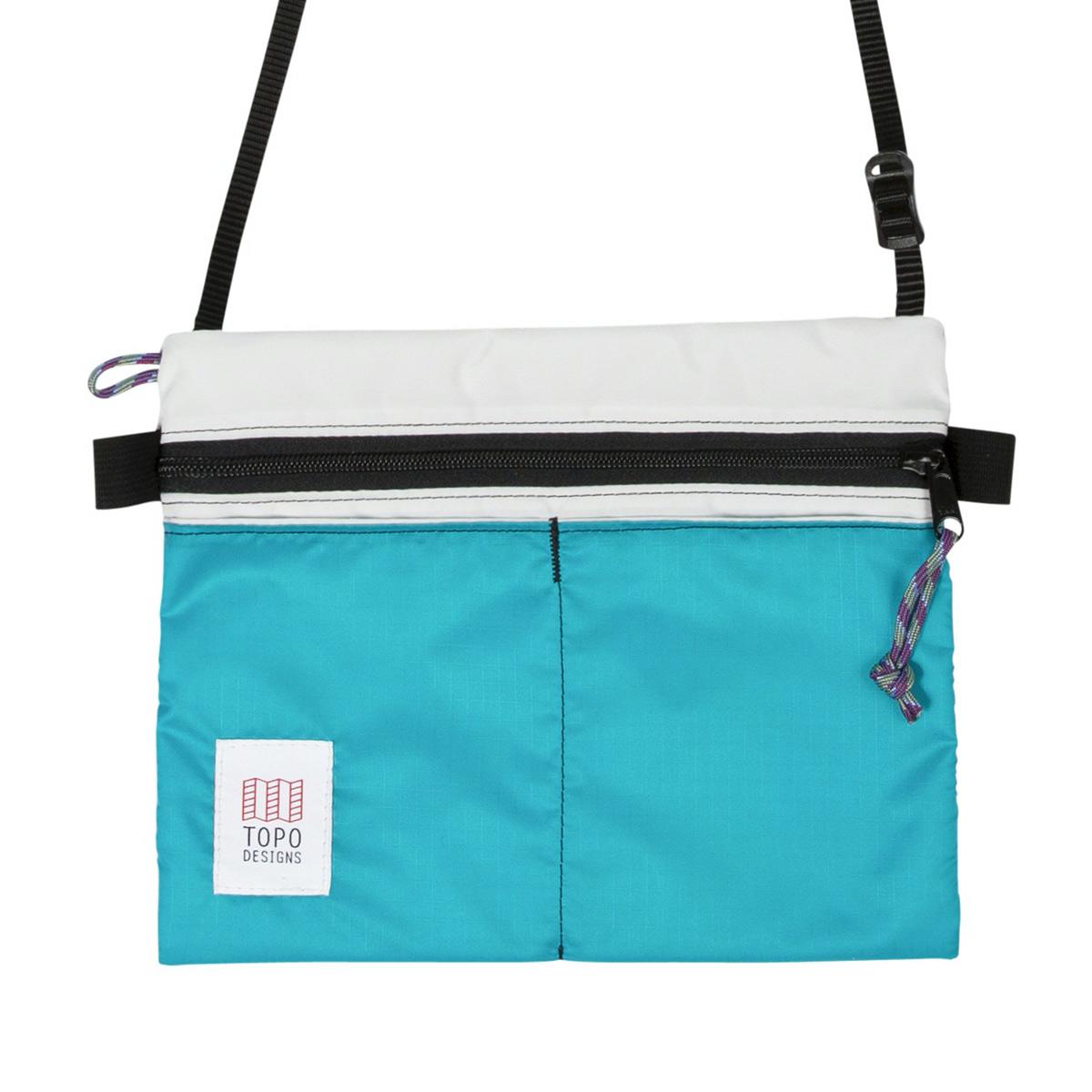 Topo Designs Accessory Shoulder Bag White/Turquoise