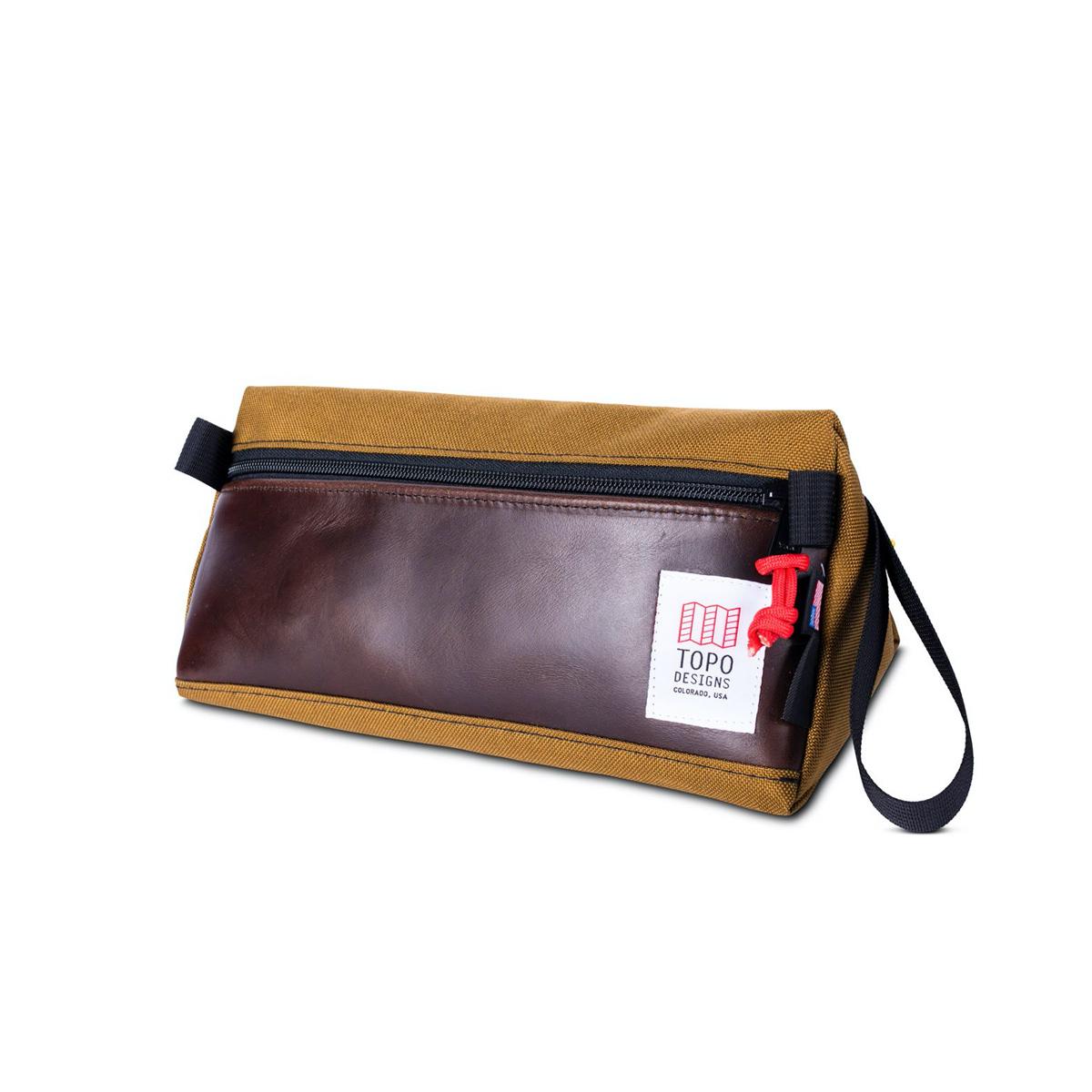 Topo Designs Dopp Kit Heritage Duck/Brown Leather
