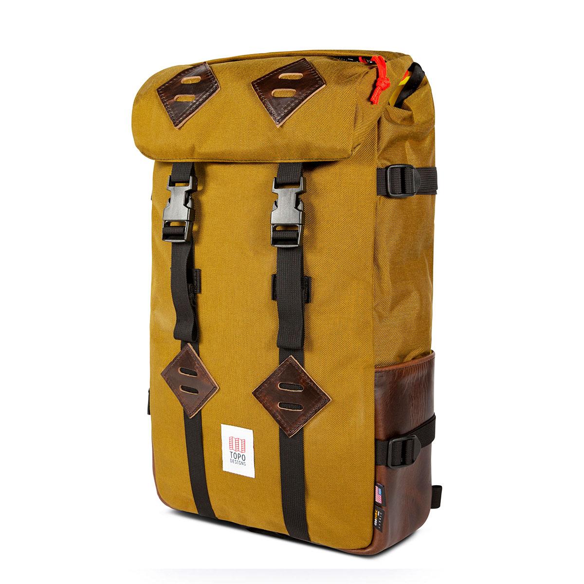 Topo Designs Klettersack Duck Brown/Dark Brown Leather