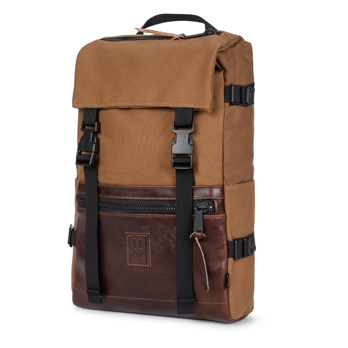 Topo Designs Rover Pack Heritage Dark Khaki Canvas/Brown Leather