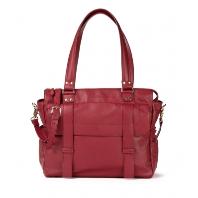 Leren Dames Laptoptas Sarah samba red