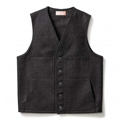 Filson Mackinaw Wool Vest Charcoal