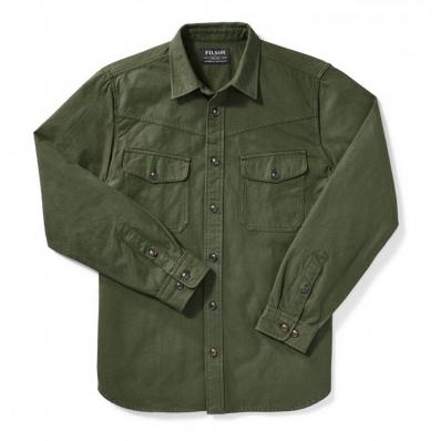 Filson Yukon Chamois Shirt Dark Forest