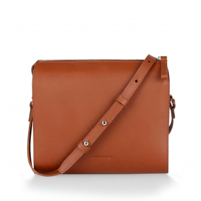Sandqvist Frances Shoulder Bag Cognac Brown