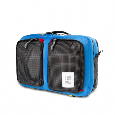 Topo Designs Global Briefcase 3-day Blue/Black Ripstop
