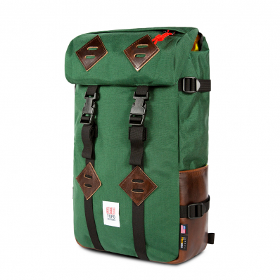 Topo Designs Klettersack Forest/Brown Leather