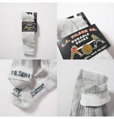 Filson Lightweight Traditional Crew Socks Gray Heather