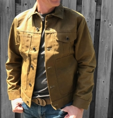 Filson Tin Cloth Short Lined Cruiser Jacket Dark Tan