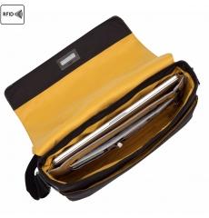 Knomo Bungo Messengertasche 15 Zoll Schwarz