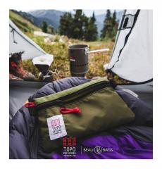 Topo Designs Utility Bag Black - Royal Blue