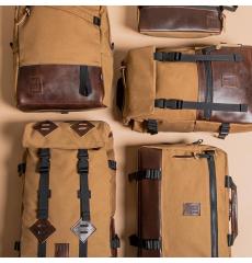 Topo Designs Klettersack Heritage Dark Khaki Canvas/Dark Brown Leather