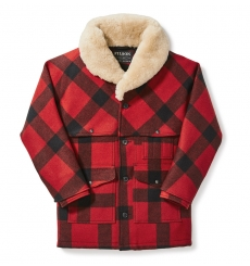 Filson Wool Packer Coat Red/Black Plaid