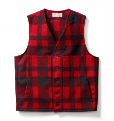 Filson Mackinaw Wool Vest Red/Black