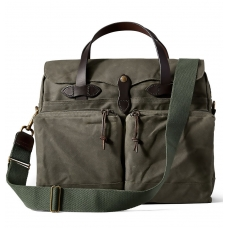 Filson 24-Hour Tin Cloth Briefcase 11070140-Otter Green