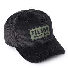 Filson Cord Logger Cap Black