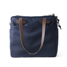 Filson Rugged Twill Tote Bag With Zipper 11070261-Navy