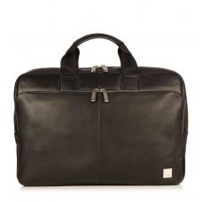 Knomo Newbury 15 Zoll Aktentasche aus Leder Schwarz