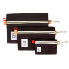 Topo Designs Accessory Bags 3 Pack Canvas Black