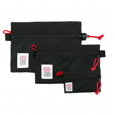 Topo Designs Accessory Bags 3 Pack Black