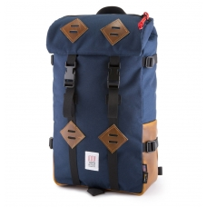 Topo Designs Klettersack Navy/Brown Leather