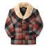Filson Lined Wool Packer Coat Black/Charcoal/Rust