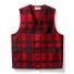 Filson Mackinaw Wool Vest Red/Black Plaid