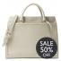 Leren Dames Laptoptas Hannah 13 inch Sand Sale 50% OFF