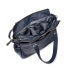 Leder Damen Laptoptasche Sarah navy blue