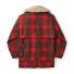 Filson Lined Wool Packer Coat Red/Green/Dark Brown back