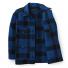 Filson Mackinaw Cruiser Jacket Cobalt Black front open