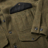 Filson Mackinaw Cruiser Jacket Forest Green sleeve and pocket