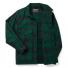 Filson Mackinaw Cruiser Jacket Green Black front-open