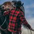 Filson Mackinaw Cruiser Jacket Red Black lifestyle